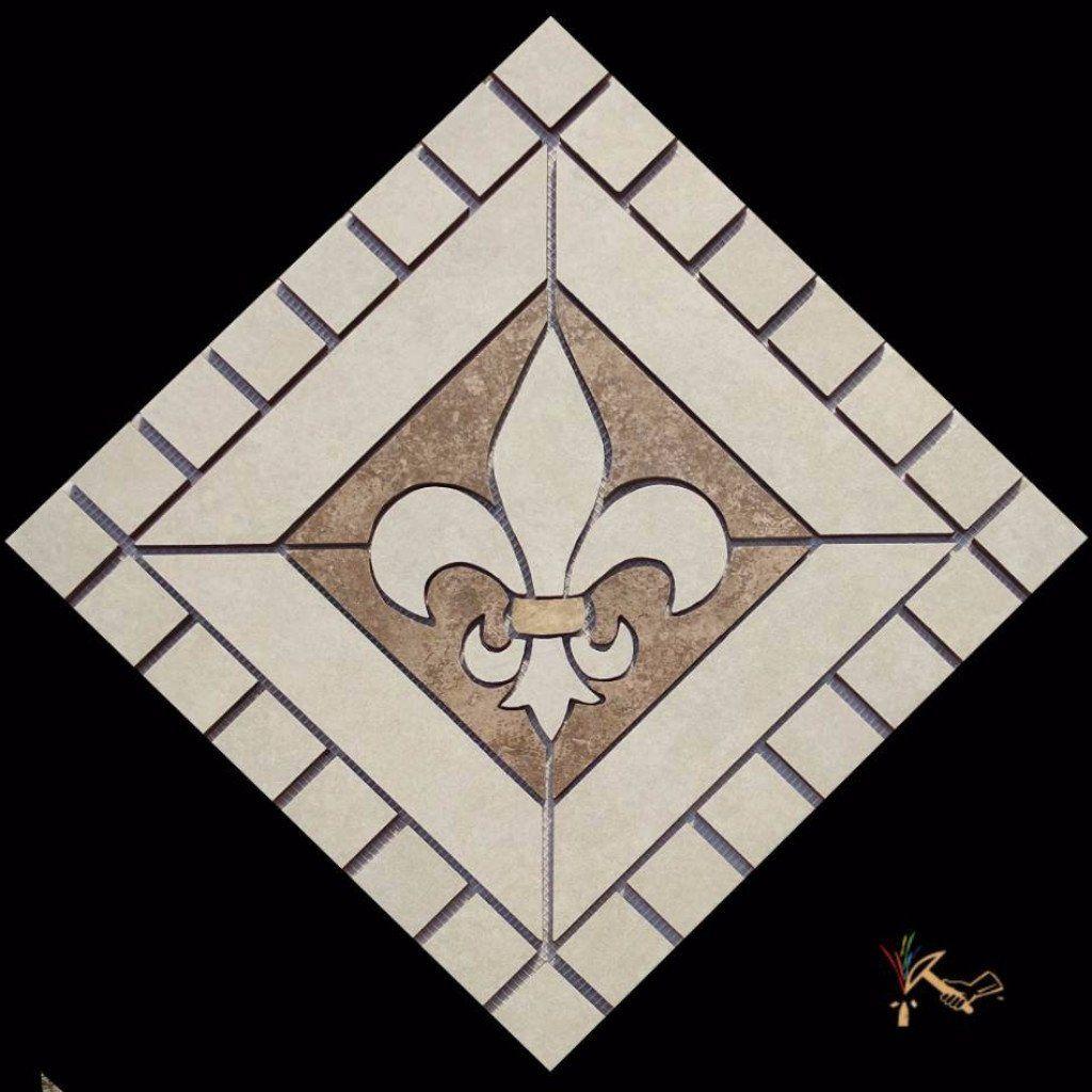 18 Fleur De Lis Ceramic Backsplash Mural Tile Floor Medallion Light