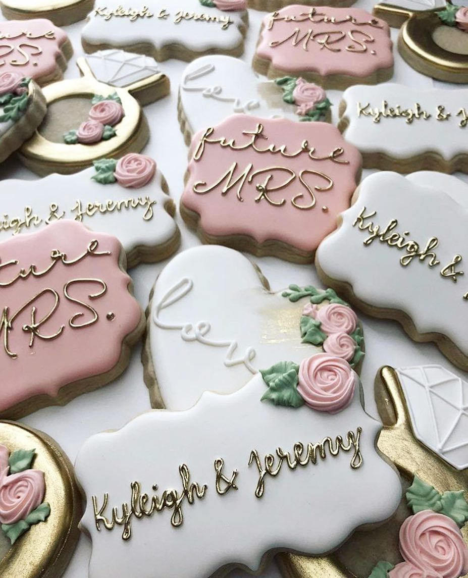 Handpainted decorated sugar cookies by Bakes by Lo