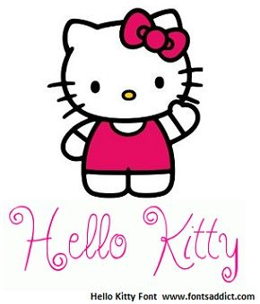 free hello kitty font available at www.fontsaddict | hello kitty, kitty, free fonts download