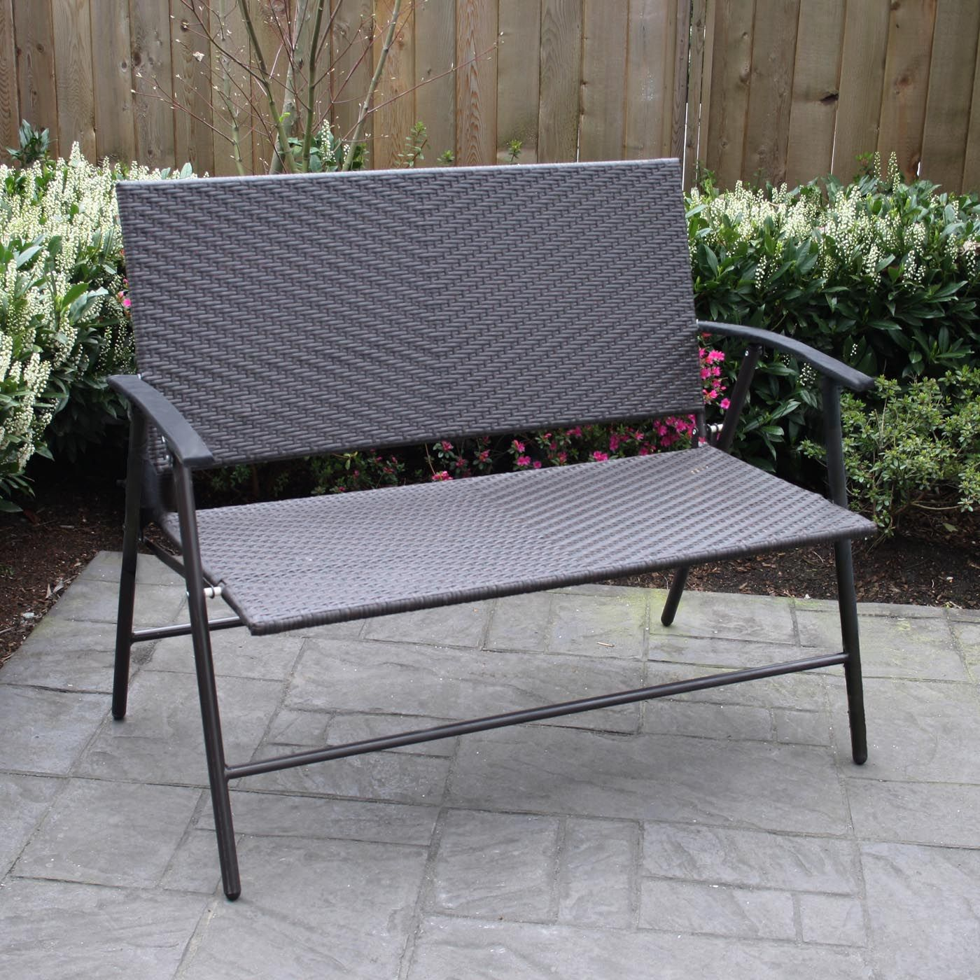 Patio Flare PF BB206 Newport Wicker Outdoor Folding Bench at