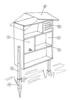 Construction d 39 une cabane insectes projet jardinage - Maison a insectes plan ...