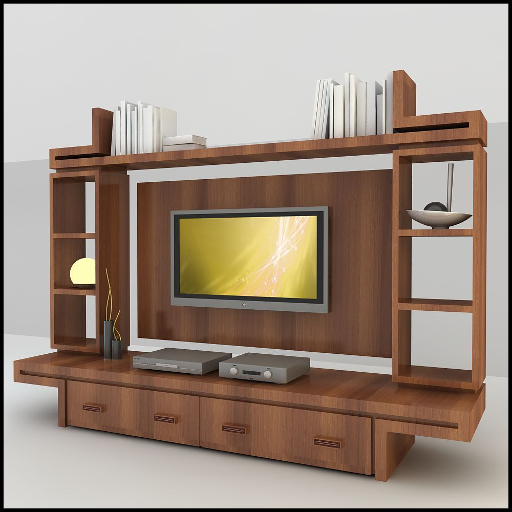 All the wall unit designs for lcd tv arrangements in the for Simple lcd wall unit designs