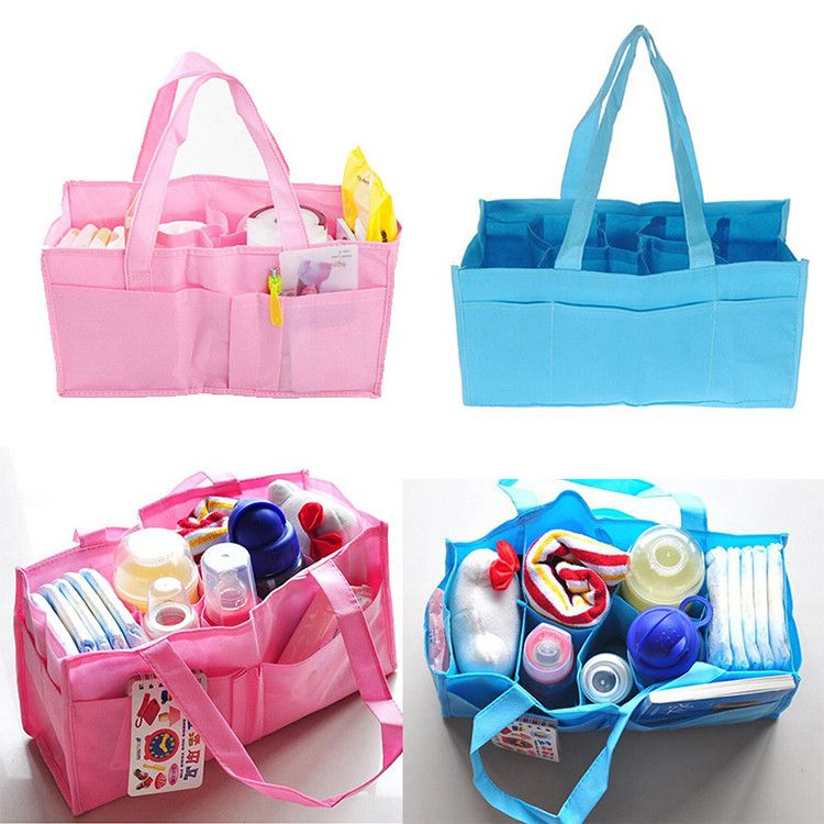 20c66cc1f51d Aliexpress.com : Buy Multi function Mother Women Bag Organizer Diaper Nappy  Partition Tote Flower HandBag Blue Pink from Reliable handbag evening  suppliers ...