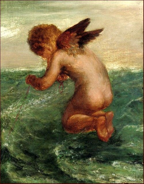 Good Luck to Your Fishing (1909) g f watts