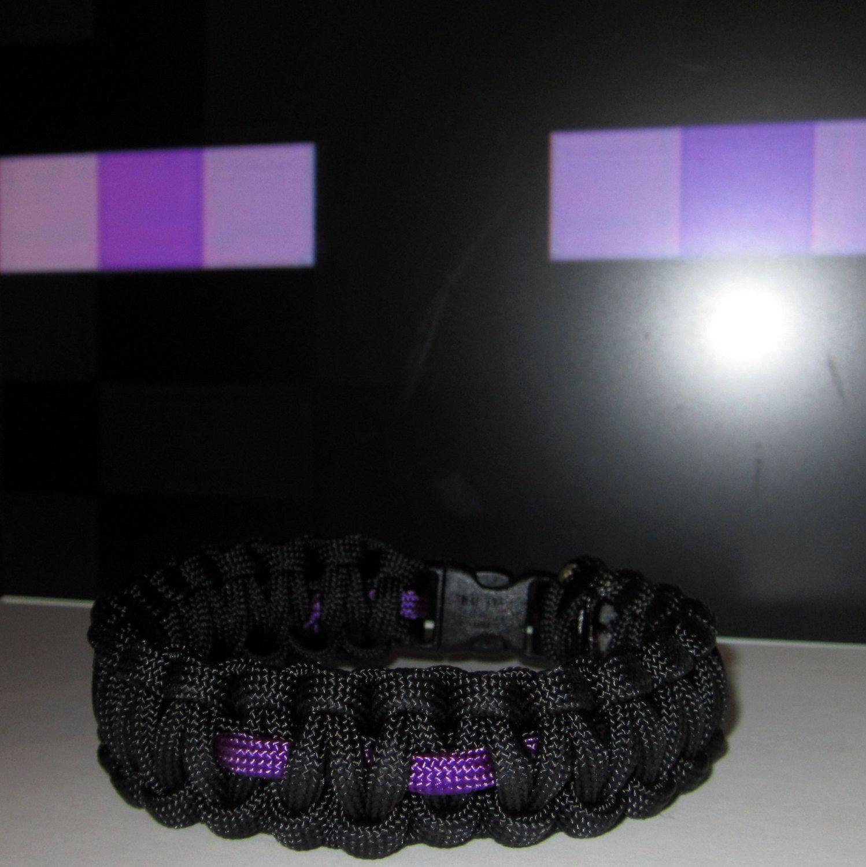 Minecraft Enderman Colors Survival Bracelet Gamer Wristband Endermen Inpired Survival Cord Strap. $5.99, via Etsy.