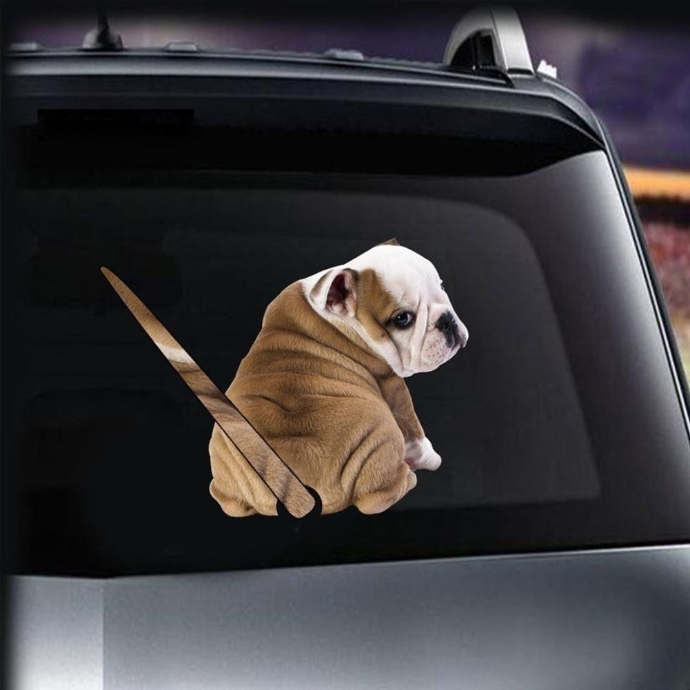 1pcs Cartoon Funny Moving Tail Puppy Dog Stickers Car Window Wiper Decals Rear Windshield Reflective Sticker Dog In Car Sticker Vinilos Pinturas Rey [ 1001 x 1001 Pixel ]