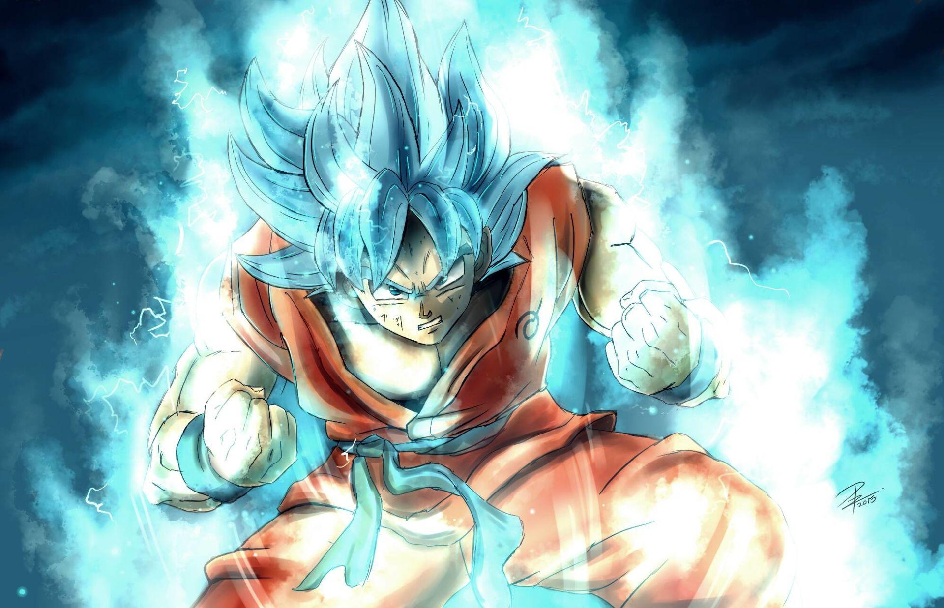 Goku Ssj Dios Para Fondo De Pantalla: Anime Dragon Ball Super Goku Super Saiyan Blue Fondo De