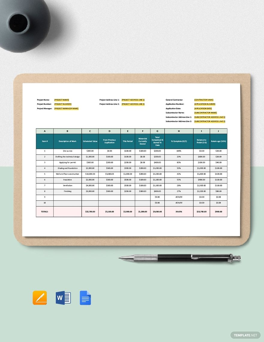 Small Construction Schedule Of Values Template Free Google Docs Word Apple Pages Template Net Templates Schedule Template Schedule Templates Schedule of values template construction