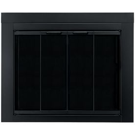 Pleasant Hearth Ascot Black Medium Bi Fold Fireplace Doors With