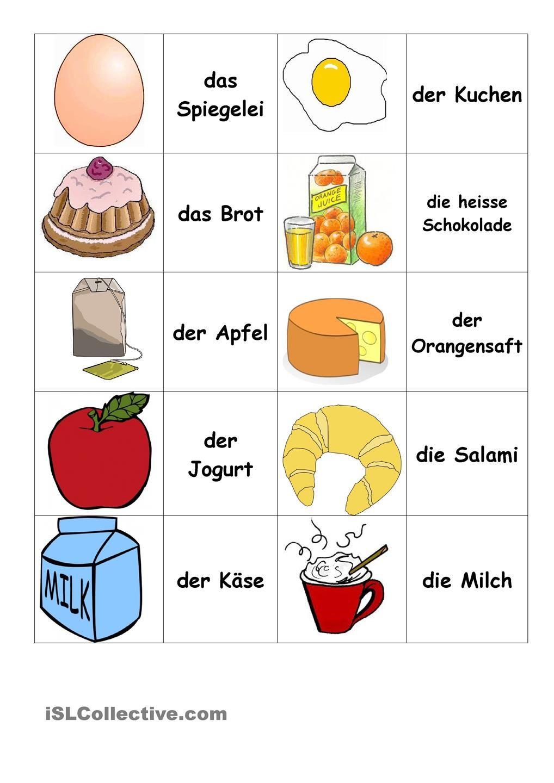 Frühstück Memory | German teacher | Pinterest | Teacher and School