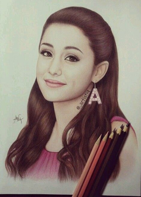 Ariana grande drawing happy 20th bday