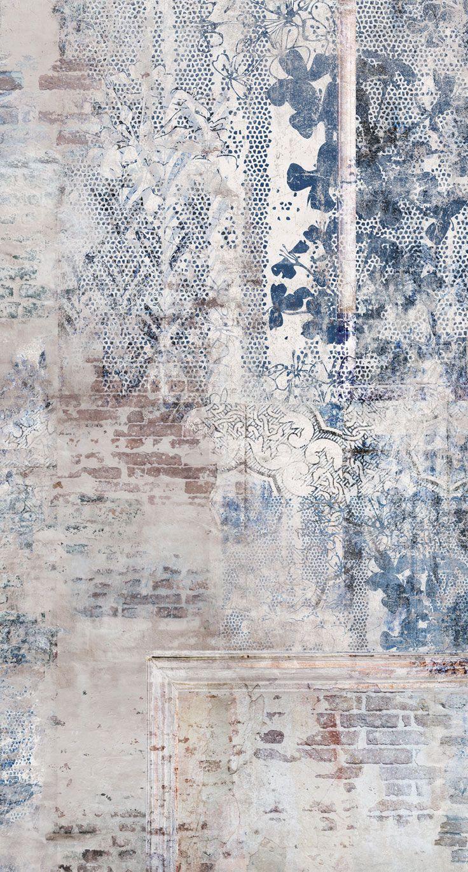 La carta da parati materica raccoglie una serie di opere uniche, in cui la materia, il dettaglio è il vero protagonista. Wall Paper Ricordi Textured Wallpaper Wall Painting Wallpaper
