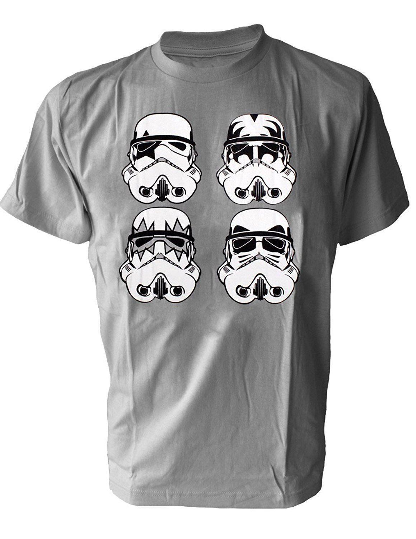 222cfb8fa Click to Buy << GILDAN Fashion funny Stormtroopers KISS parody Rock Band  Men's T-Shirt Star Wars trooper man t-shirt #Affiliate