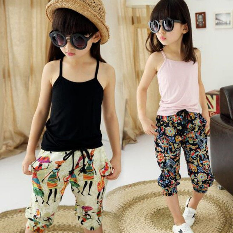 bf48e89fe Summer 13 year old girl wearing 2017 children s suit vest + print ...