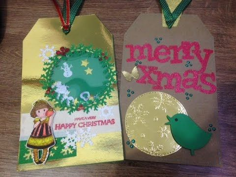 Christmas Shaker Tags using the Fuse Tool - YouTube