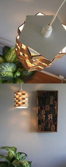 Luminária Linda e feita de papelão Pinterest Craft, Lights and