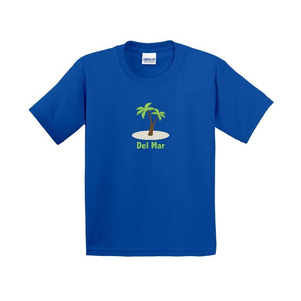 Del Mar, California Palm Tree - Youth T-Shirt