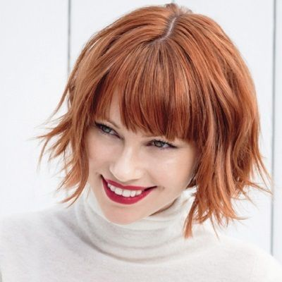 Photo of Red Babylights & Layered Chop/The Salon Step-by-Step – Behin…