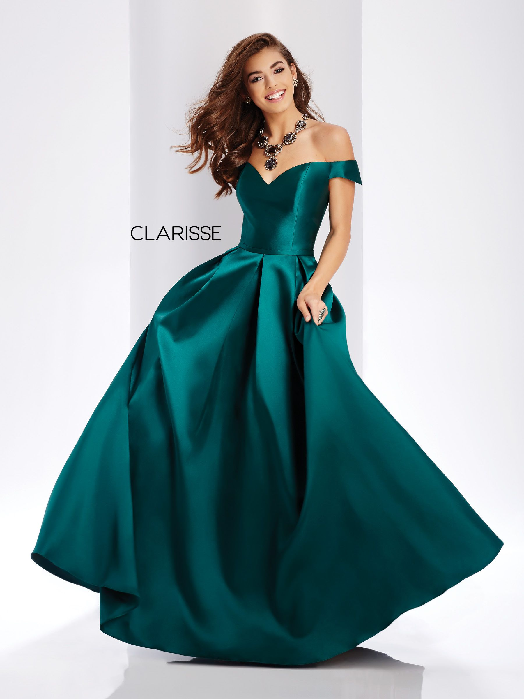 e8a6bf34b4b5 3442 - Forest green off the shoulder ball gown with a corset back ...