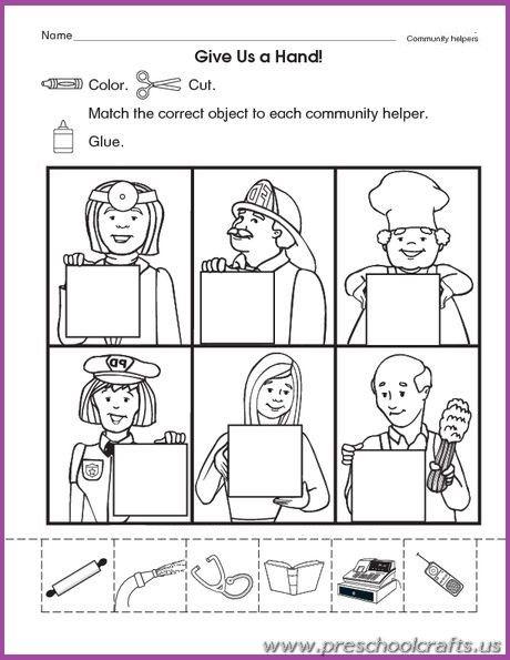 Printable Community Worksheets For Kids Community Helpers Kindergarten, Community  Helpers Worksheets, Community Helpers