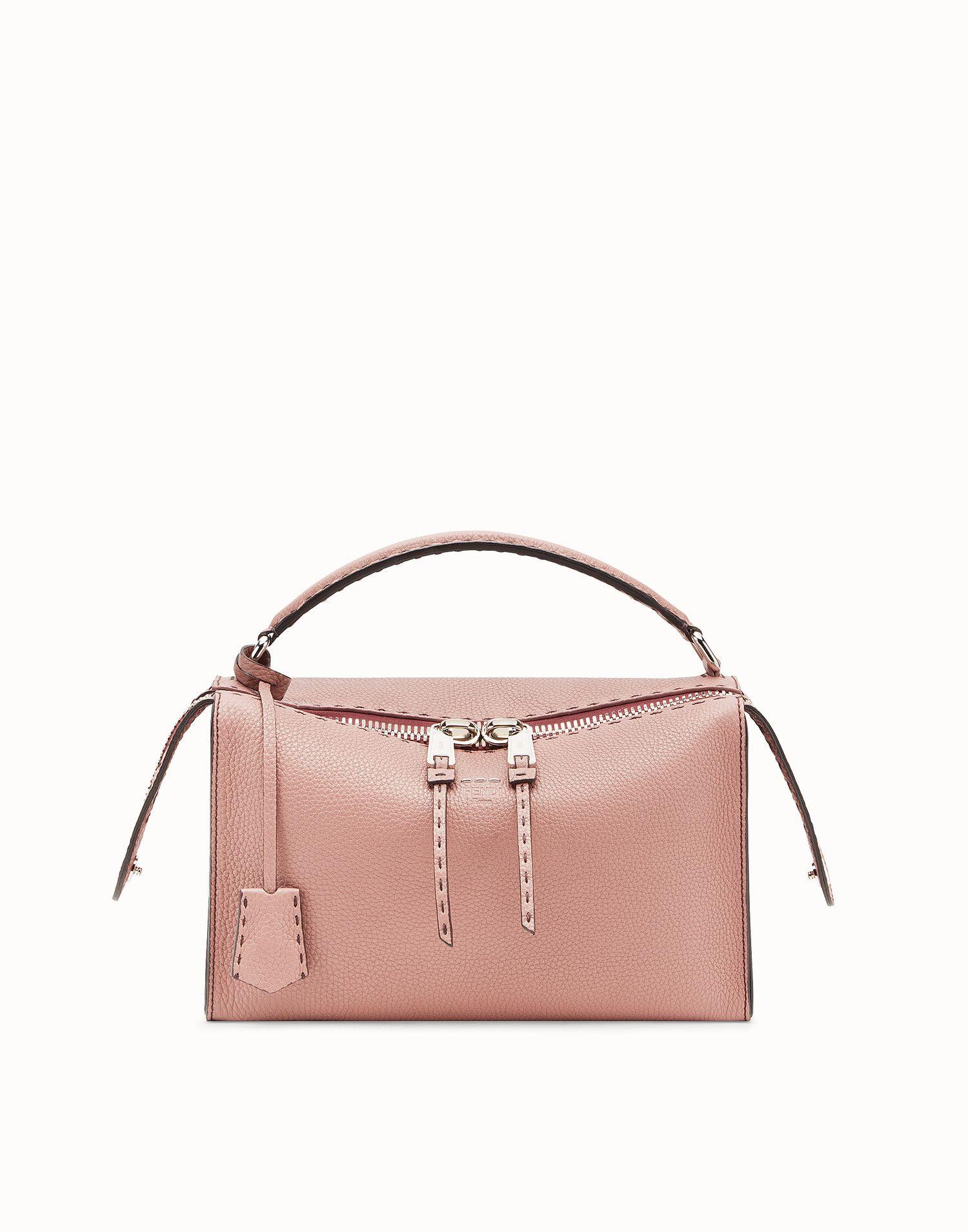 f1762949e0 FENDI LEI BAG SELLERIA - Pink leather Boston bag - view 1 zoom
