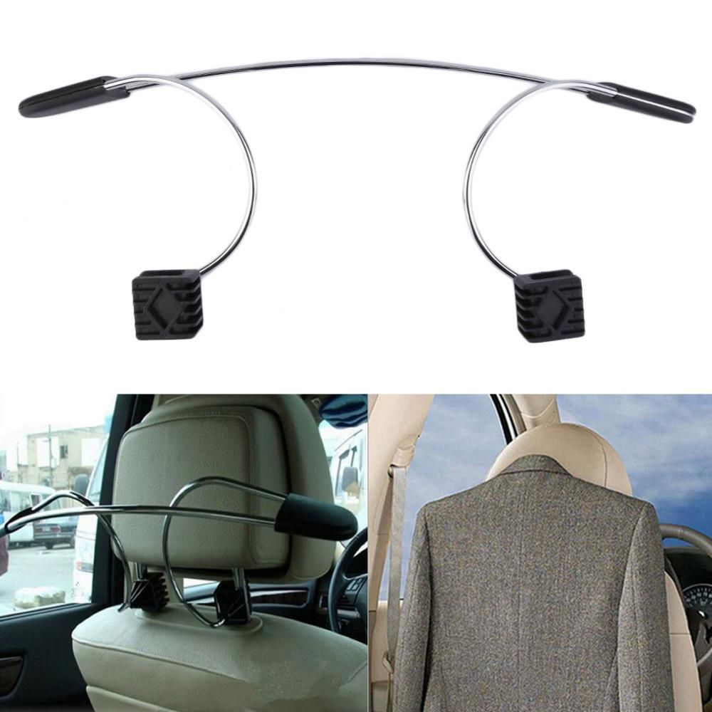Stainless Steel Car Auto Seat Headrest Coat Hanger Clothes Jackets