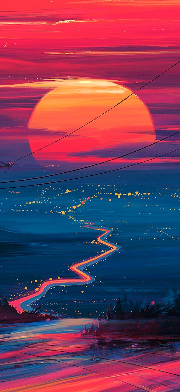 Sunset Horizon Scenery Landscape Art 4k Wallpaper 178 Wallpaper 4k Samsung A50 Samsung Wallpaper Iphone Wallpaper Oneplus Wallpapers