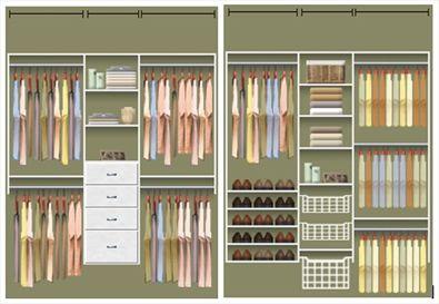 Closet Layouts | Unique Closet Layout Example: