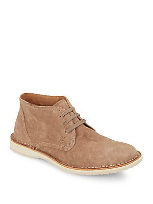 John Varvatos Hipster Suede Chukka Boots - Mineral - Size 12