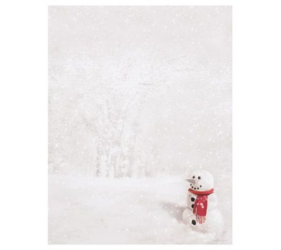 Just Print! Snowman In Red Scarf Letterhead, 80-pk Buy 1 Get 1 - office depot resume paper