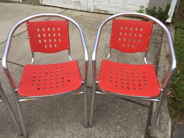 Fabulous Outdoor Deck Patio Table Chairs Aluminum And Polypropylene Inzonedesignstudio Interior Chair Design Inzonedesignstudiocom