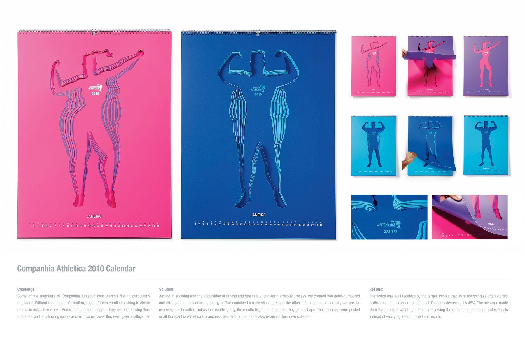 Calendar Typography Examples : Cia athletica gym calendar print image creativity online