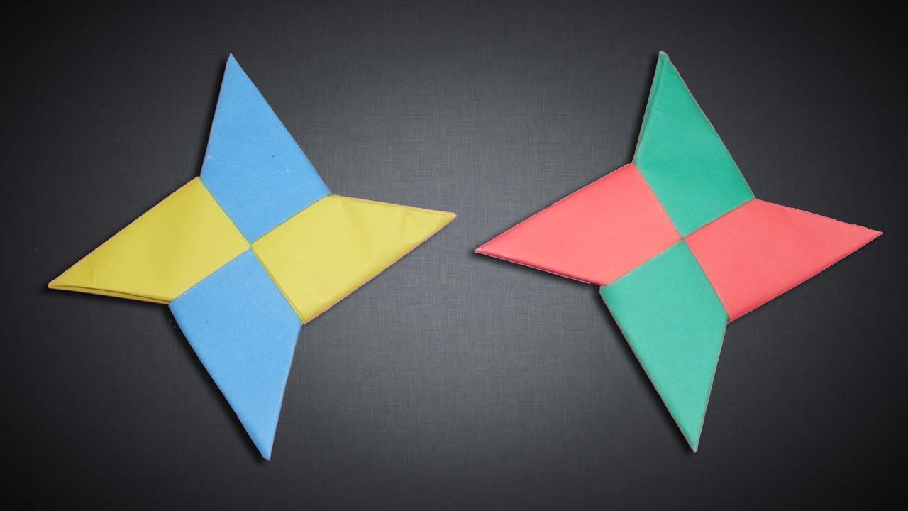 How To Make a Paper Three Pointed Ninja Star (Shuriken) - Origami ... | 720x1280