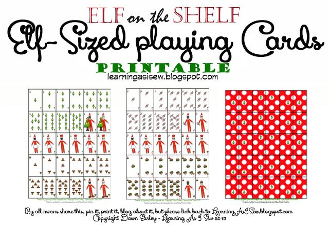 graphic relating to Deck of Many Things Printable identify Elf upon the Shelf - elf-sized printable deck of participating in playing cards