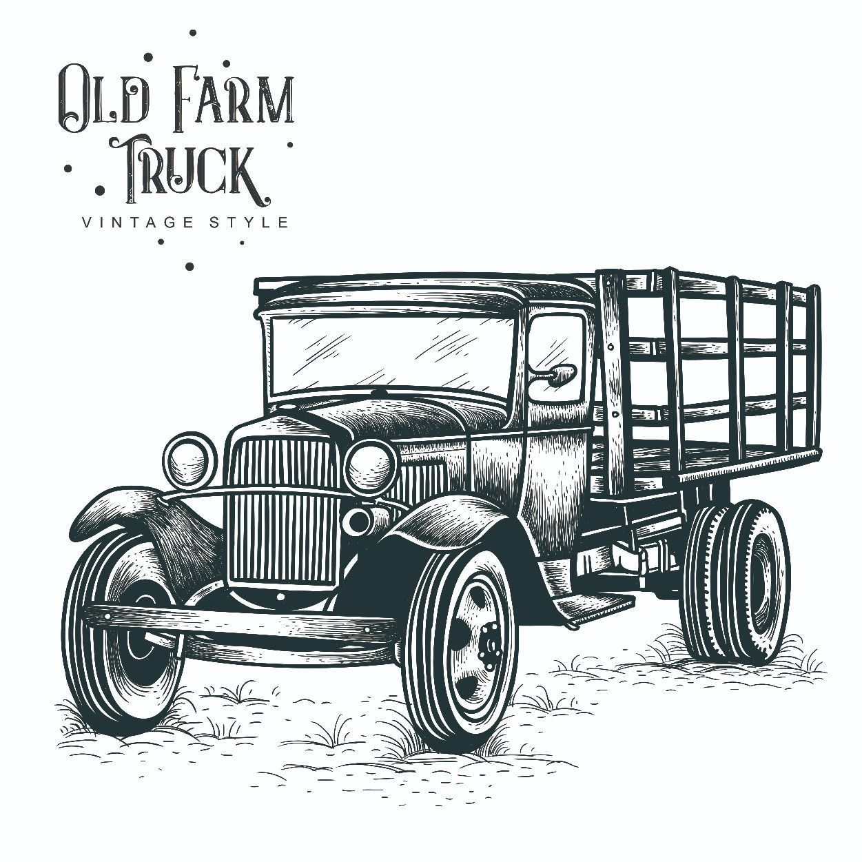 Old Truck Art Print Antique Truck Wall Art Vintage Truck Art Print Truck Drawing Old Truck Willy/'s Jeep Art Farm Truck Art Print