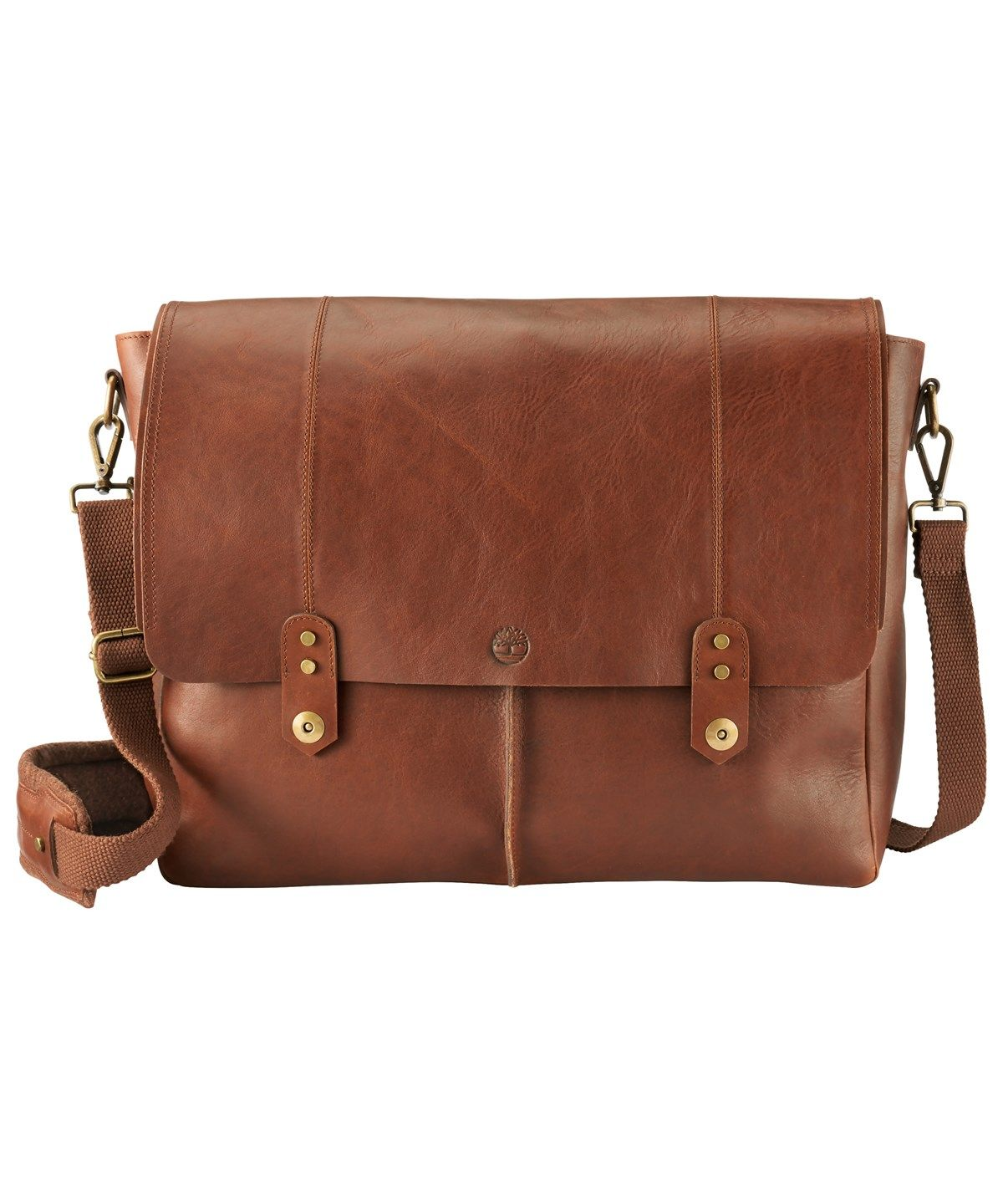 ede66cddf23 TIMBERLAND WALNUT HIL LEATHER MESSENGER'. #timberland #bags #shoulder bags  #leather #