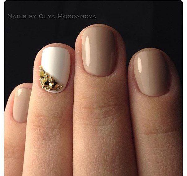 Маникюр светлый на короткие ногти фото дизайн