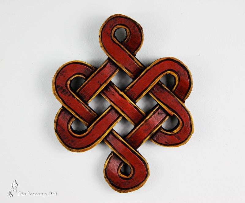 Hand Carved Endless Knot From Wood Knots Spirals And Interlace