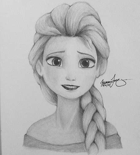 Elsa From Frozen With Images Girl Drawing Sketches Disney Character Drawings Disney Drawings
