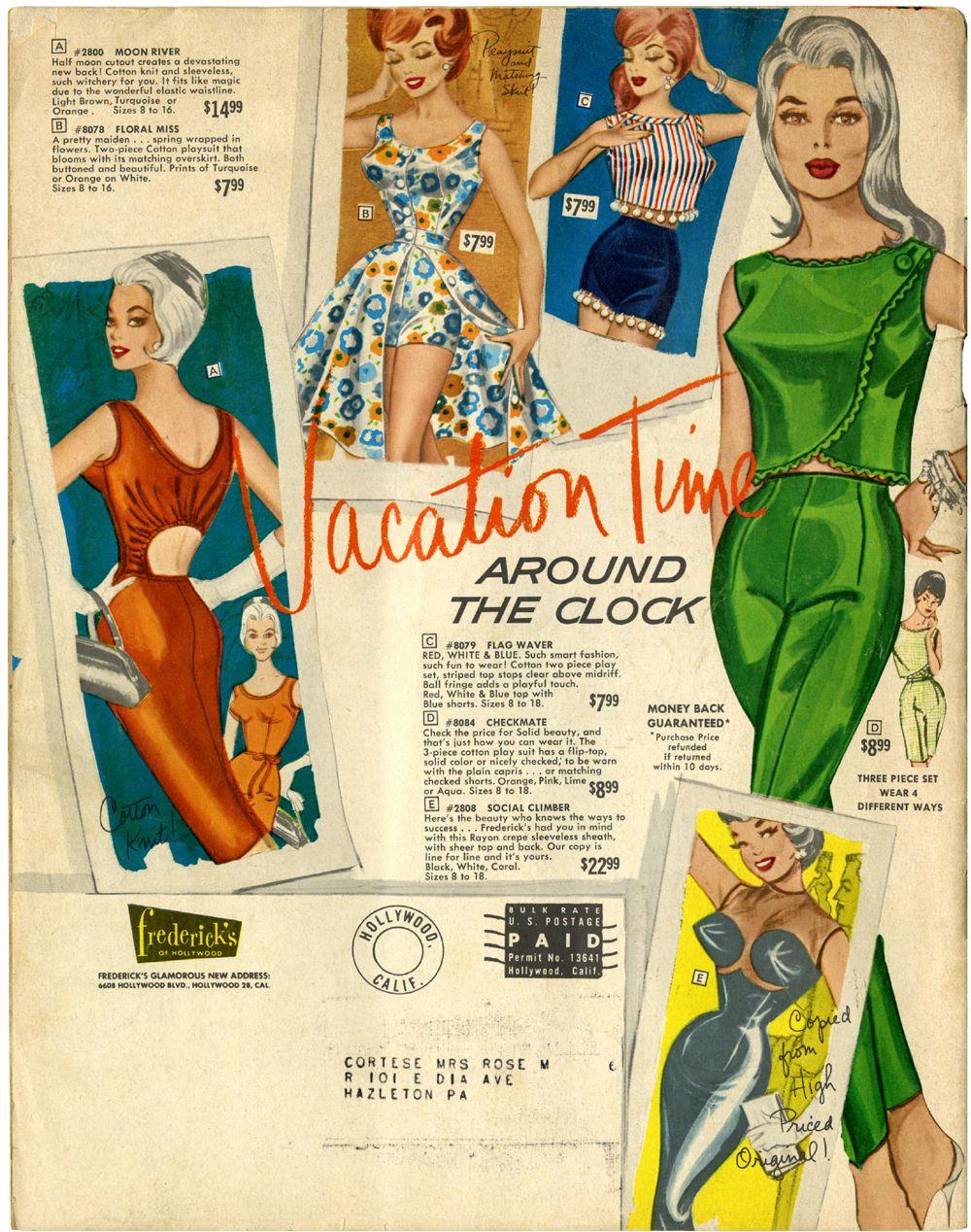 Fredericks Of Hollywood Catalog Summer 1962 Fredericks Of