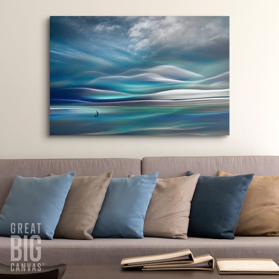Abstract Photography In The Living Room Enjoy A Modern Coastal Vibe With Abstract Photography By
