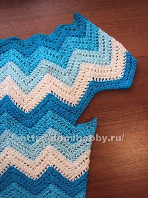 Maravilhas do Crochê: Pontos e Roupas com ponto Zig Zag | Crochet ...