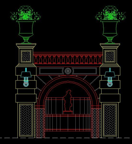 Entrance Design】★ Cad Library Autocad Blocks Autocad