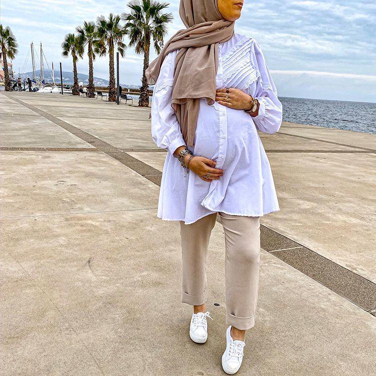 84 Maternity hijab ideas in 2021 | hijab fashion, hijabi fashion, muslim  fashion