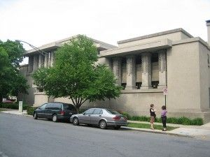 Week of August 18: The Churches of Frank Lloyd Wright. Unity Temple in Oak Park, Illinois. http://thecompletepilgrim.com/churches-frank-lloyd-wright-2/