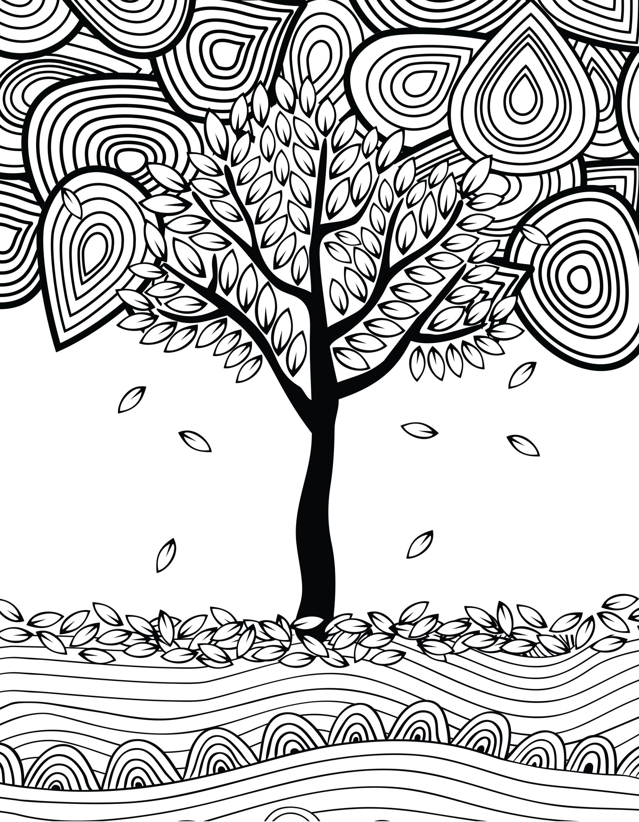 830 Top Colouring Pages Autumn Trees Download Free Images