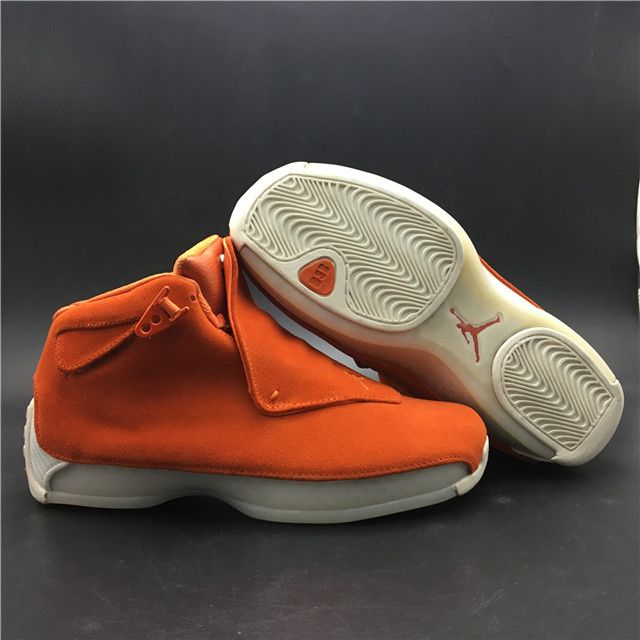 new style 6af62 6326f Top Air Jordan 18 Orange Suede AA2494-801 MK