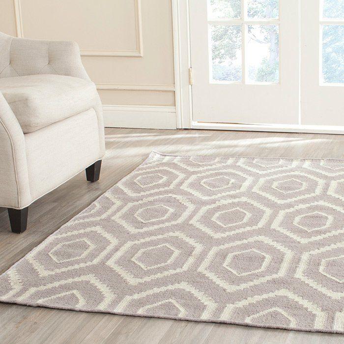 Handgewebter Innenteppich Oujda in Grau/Elfenbein Pillows and Modern - teppich wohnzimmer grau
