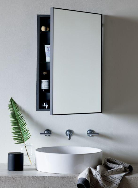 Black Medicine Cabinet Bathroom, Black Mirrored Bathroom Cabinet