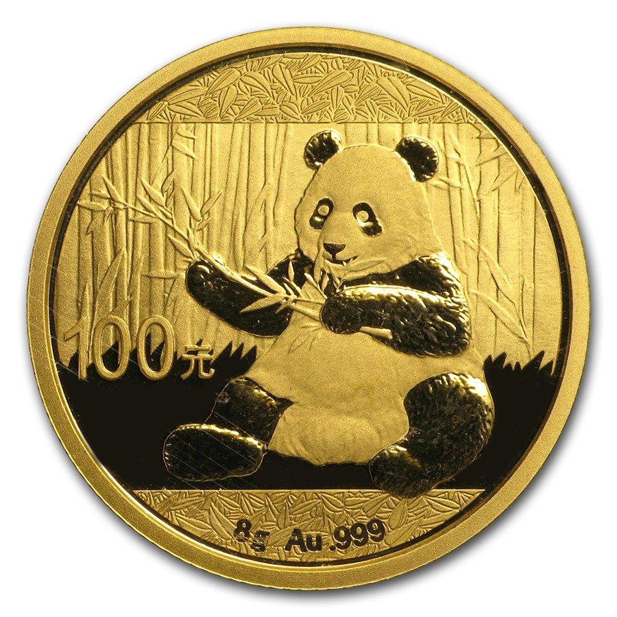 2017 8 Gram China Panda 999 Gold Coin